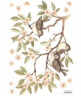 STICKERS BRANCHES FLEURIES OISEAUX LILIPINSO