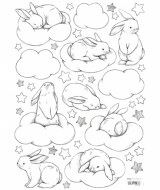STICKERS BÉBÉ LAPIN LILIPINSO