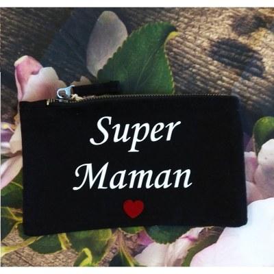 POCHETTE SUPER MAMAN COEUR PARDEUXCESTMIEUX