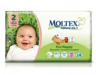 COUCHES MINI ECOLOGIQUES MOLTEX NATURE N°1 (3-6kg) BÉBÉ CASH