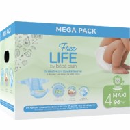 COUCHES MAXI 7-18kg FREE LIFE BEBE CASH (96 couches) T4