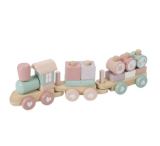 TRAIN BLOCS ADVENTURE PINK LITTLE DUTCH