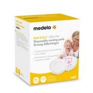 Lot de 60 coussinets d'allaitement Safe & Dry™ Ultra thin à usage unique Medela